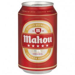 Cerveza Mahou Cinco Estrellas Lata 33cl 55%